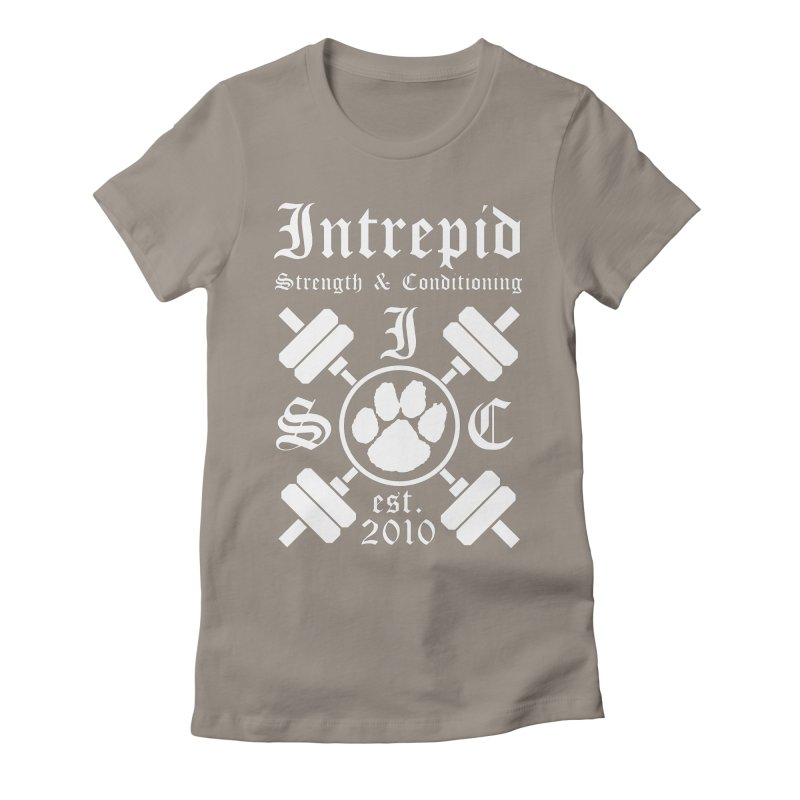 Intrepid with barbells Women's Fitted T-Shirt by intrepidcfwarwick's Artist Shop