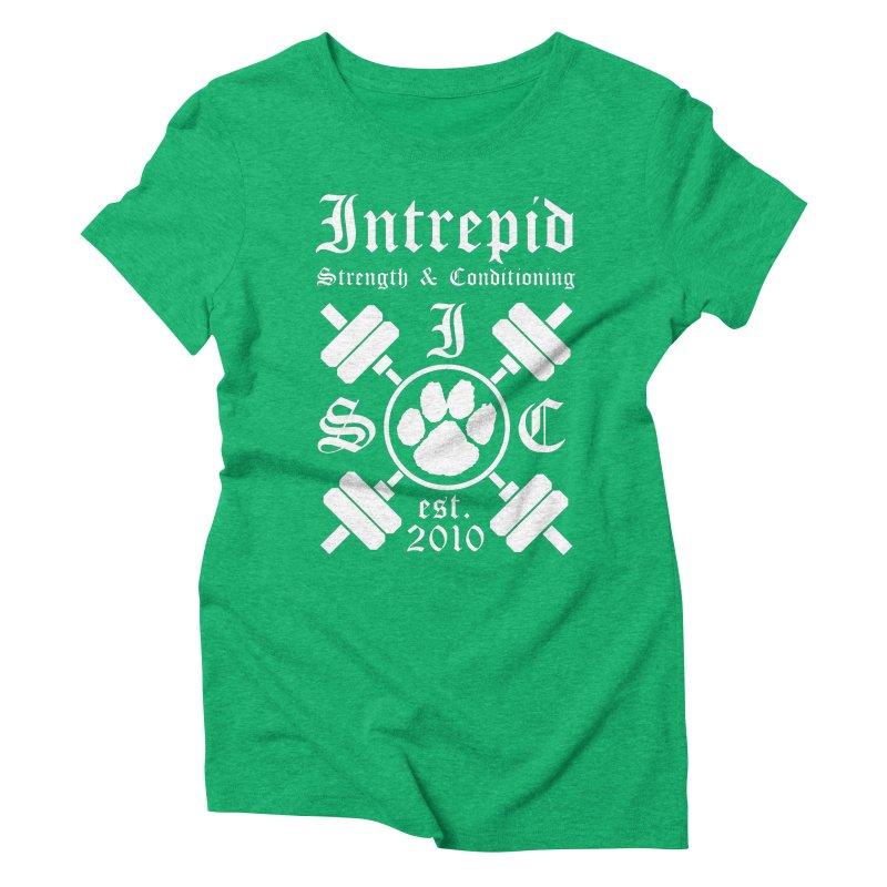 Intrepid with barbells Women's Triblend T-Shirt by Intrepid CF Warwick's Artist Shop