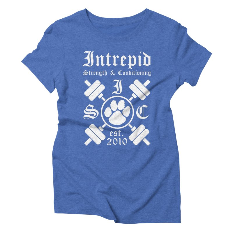 Intrepid with barbells Women's Triblend T-Shirt by Intrepid CF Warwick's Artist Shop