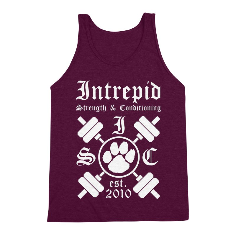 Intrepid with barbells Men's Triblend Tank by Intrepid CF Warwick's Artist Shop