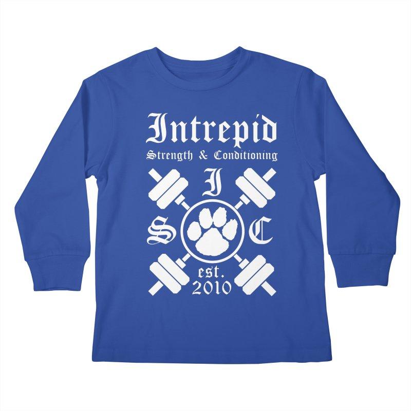 Intrepid with barbells Kids Longsleeve T-Shirt by intrepidcfwarwick's Artist Shop