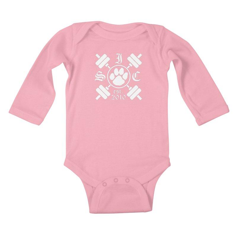 Intrepid Barbells Kids Baby Longsleeve Bodysuit by Intrepid CF Warwick's Artist Shop