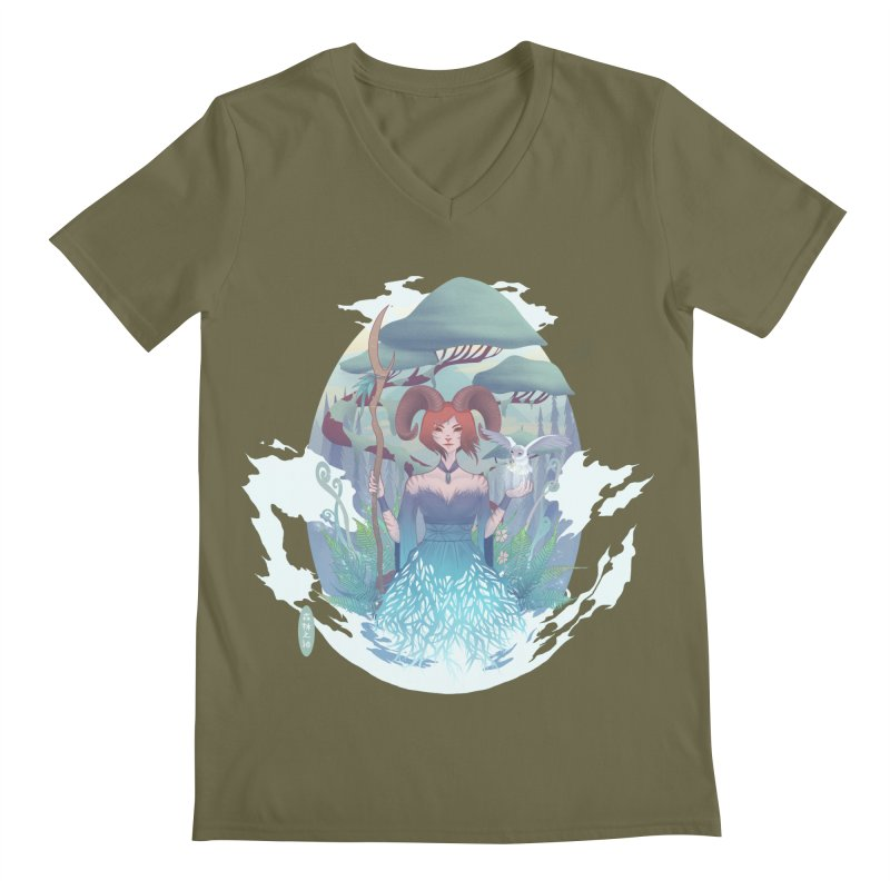 Guardian of the Forest Men's V-Neck by cherished