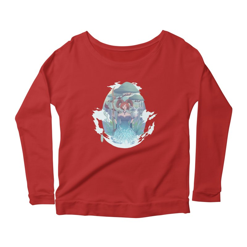 Guardian of the Forest Women's Longsleeve Scoopneck  by cherished