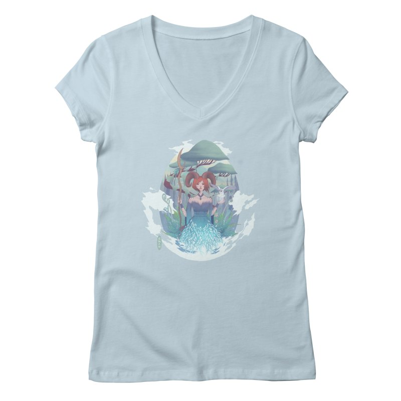 Guardian of the Forest Women's V-Neck by cherished