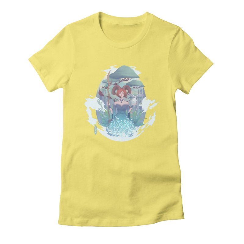 Guardian of the Forest Women's Fitted T-Shirt by cherished