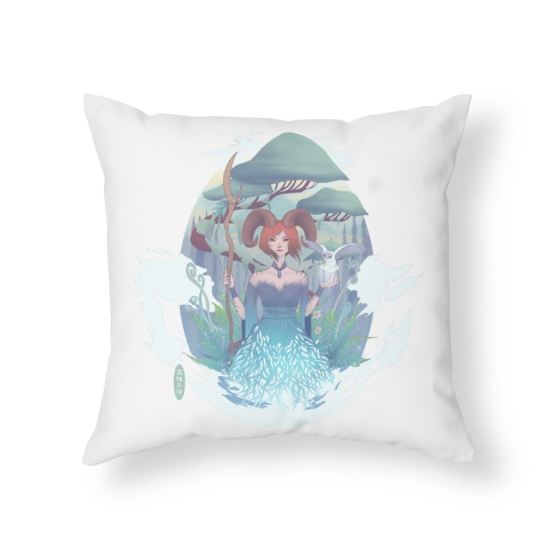 Guardian of the Forest Home Throw Pillow by cherished