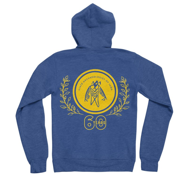 OSA 60th Anniversary Women's Sponge Fleece Zip-Up Hoody by Iowa Archaeology Gifts, Prints, & Apparel