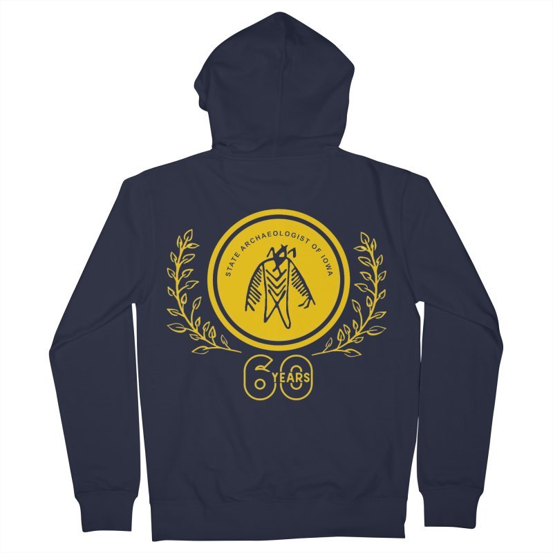 OSA 60th Anniversary Women's French Terry Zip-Up Hoody by Iowa Archaeology Gifts, Prints, & Apparel