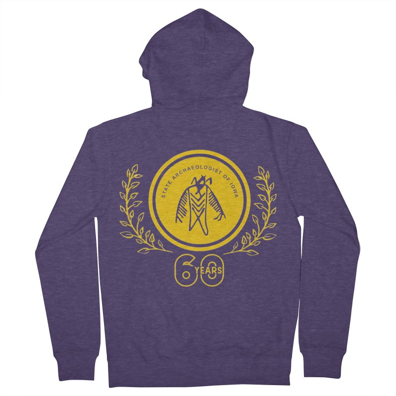OSA 60th Anniversary Men's French Terry Zip-Up Hoody by Iowa Archaeology Gifts, Prints, & Apparel