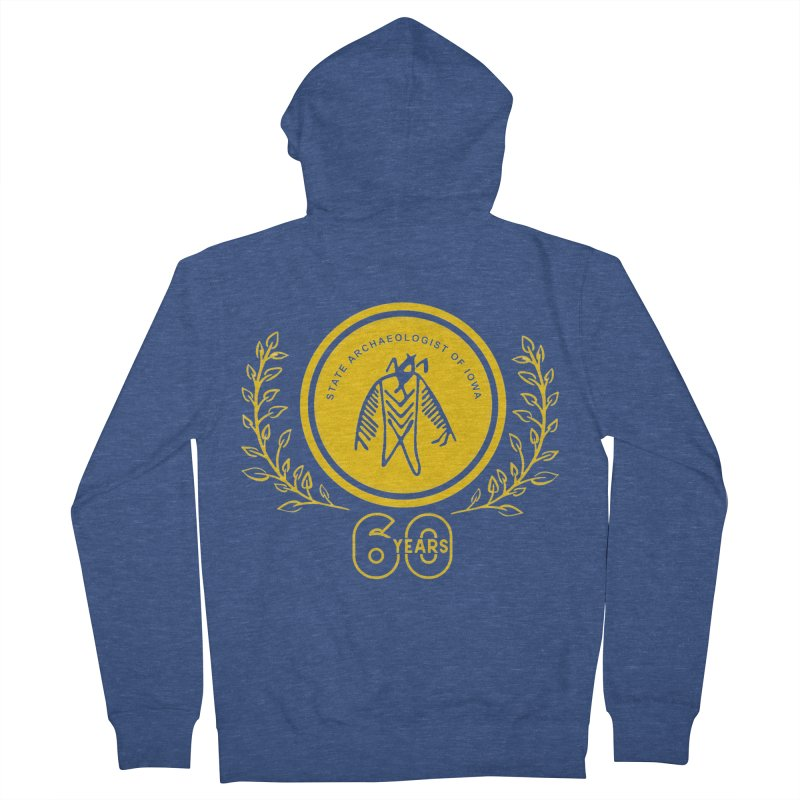 OSA 60th Anniversary Men's Zip-Up Hoody by Iowa Archaeology Gifts, Prints, & Apparel
