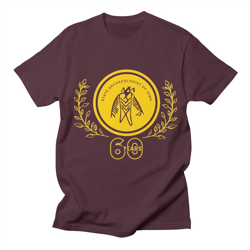 OSA 60th Anniversary Men's Regular T-Shirt by Iowa Archaeology Gifts, Prints, & Apparel
