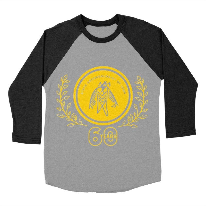 OSA 60th Anniversary Women's Baseball Triblend Longsleeve T-Shirt by Iowa Archaeology Gifts, Prints, & Apparel