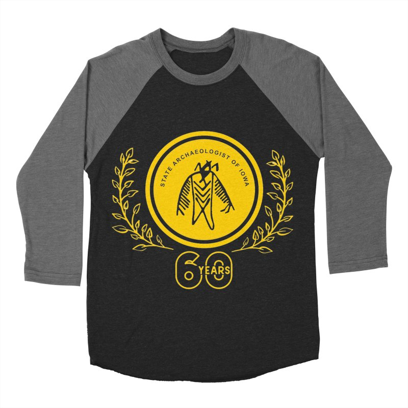 OSA 60th Anniversary Men's Baseball Triblend Longsleeve T-Shirt by Iowa Archaeology Gifts, Prints, & Apparel