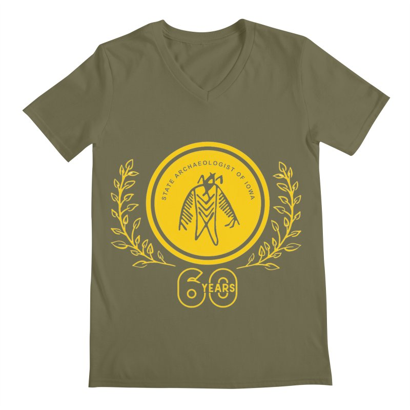 OSA 60th Anniversary Men's V-Neck by Iowa Archaeology Gifts, Prints, & Apparel