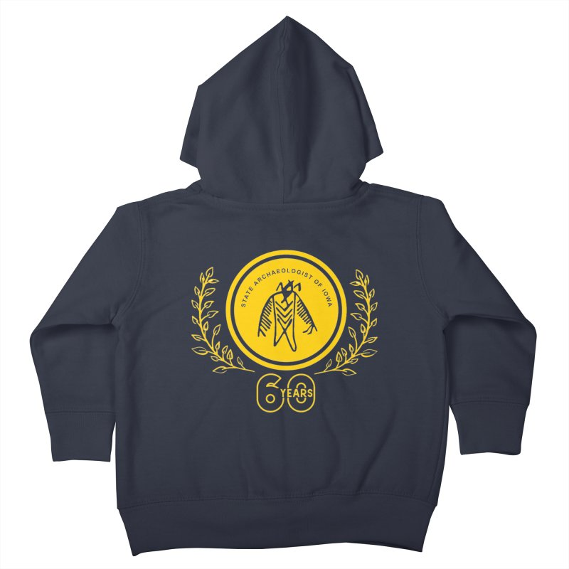 OSA 60th Anniversary Kids Toddler Zip-Up Hoody by Iowa Archaeology Gifts, Prints, & Apparel