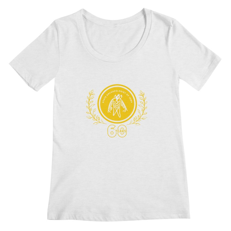 OSA 60th Anniversary Women's Regular Scoop Neck by Iowa Archaeology Gifts, Prints, & Apparel