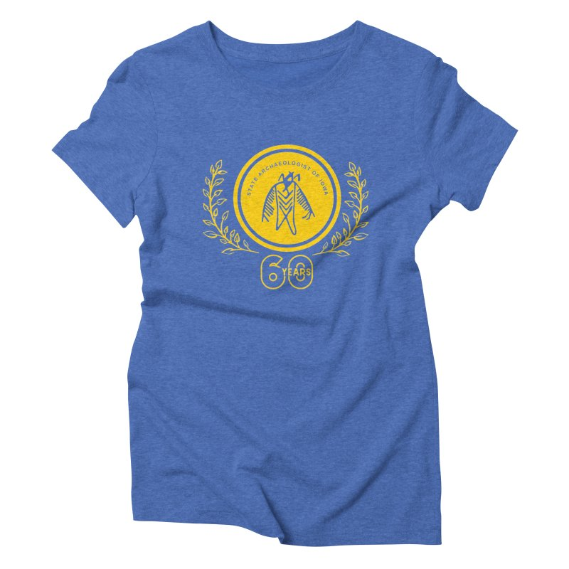 OSA 60th Anniversary Women's Triblend T-Shirt by Iowa Archaeology Gifts, Prints, & Apparel