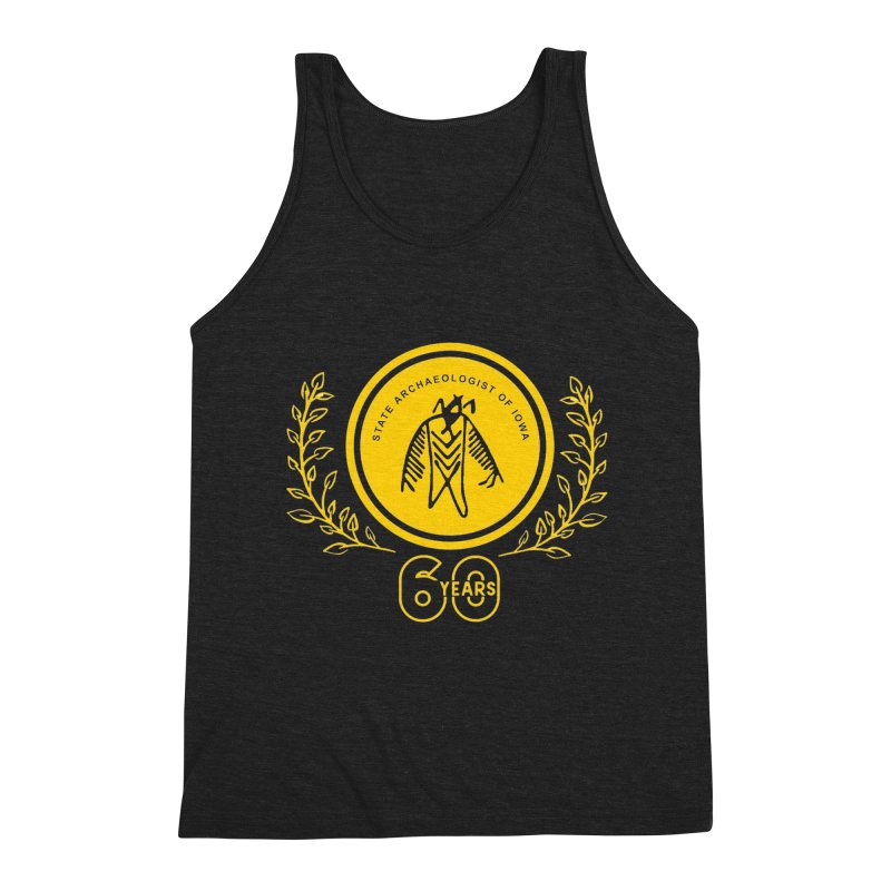 OSA 60th Anniversary Men's Triblend Tank by Iowa Archaeology Gifts, Prints, & Apparel