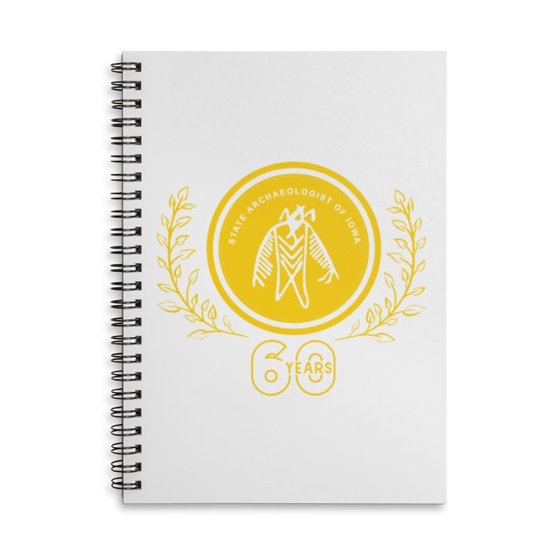OSA 60th Anniversary Accessories Lined Spiral Notebook by Iowa Archaeology Gifts, Prints, & Apparel