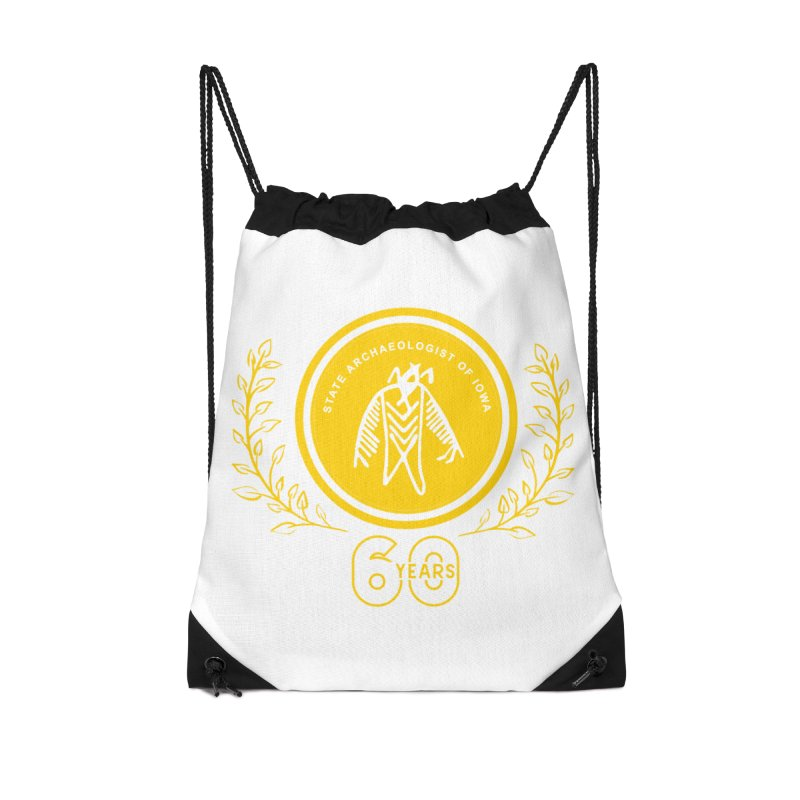 OSA 60th Anniversary Accessories Drawstring Bag Bag by Iowa Archaeology Gifts, Prints, & Apparel