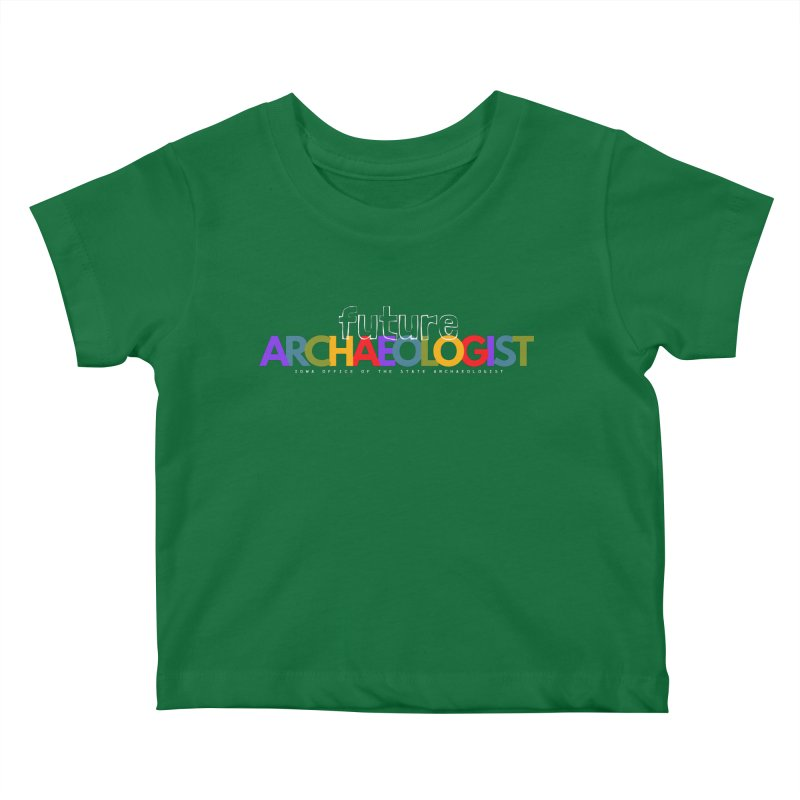 Future Archaeologist (Color on Dark Apparel) Kids Baby T-Shirt by Iowa Archaeology Gifts, Prints, & Apparel