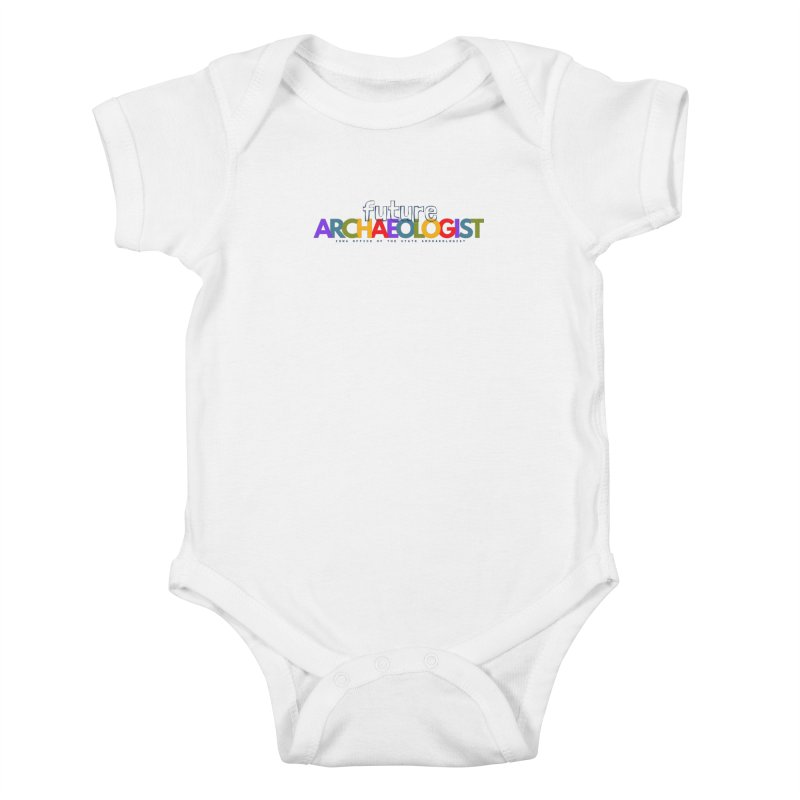 Future Archaeologist (Color on Light Apparel) Kids Baby Bodysuit by Iowa Archaeology Gifts, Prints, & Apparel