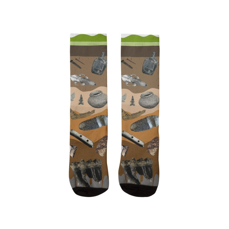 Iowa Archaeology Stratigraphy Socks Men's Socks by Iowa Archaeology Gifts, Prints, & Apparel