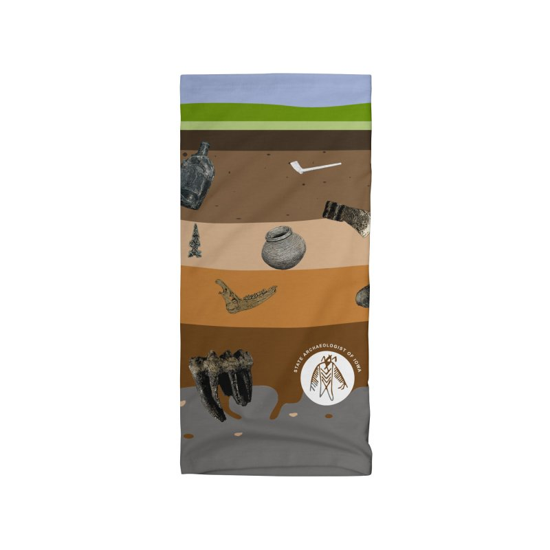 Iowa Archaeology Stratigraphy Accessories Neck Gaiter by Iowa Archaeology Gifts, Prints, & Apparel
