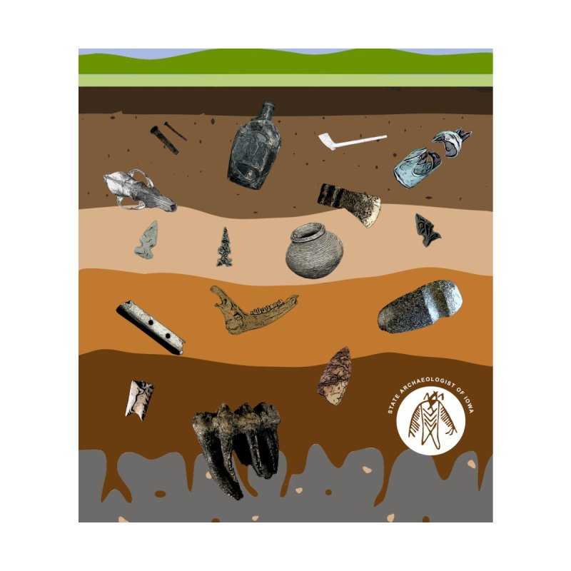 Iowa Archaeology Stratigraphy Accessories Magnet by Iowa Archaeology Gifts, Prints, & Apparel