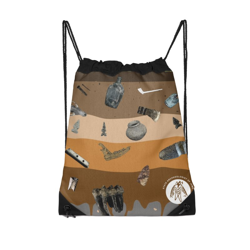 Iowa Archaeology Stratigraphy Accessories Bag by Iowa Archaeology Gifts, Prints, & Apparel