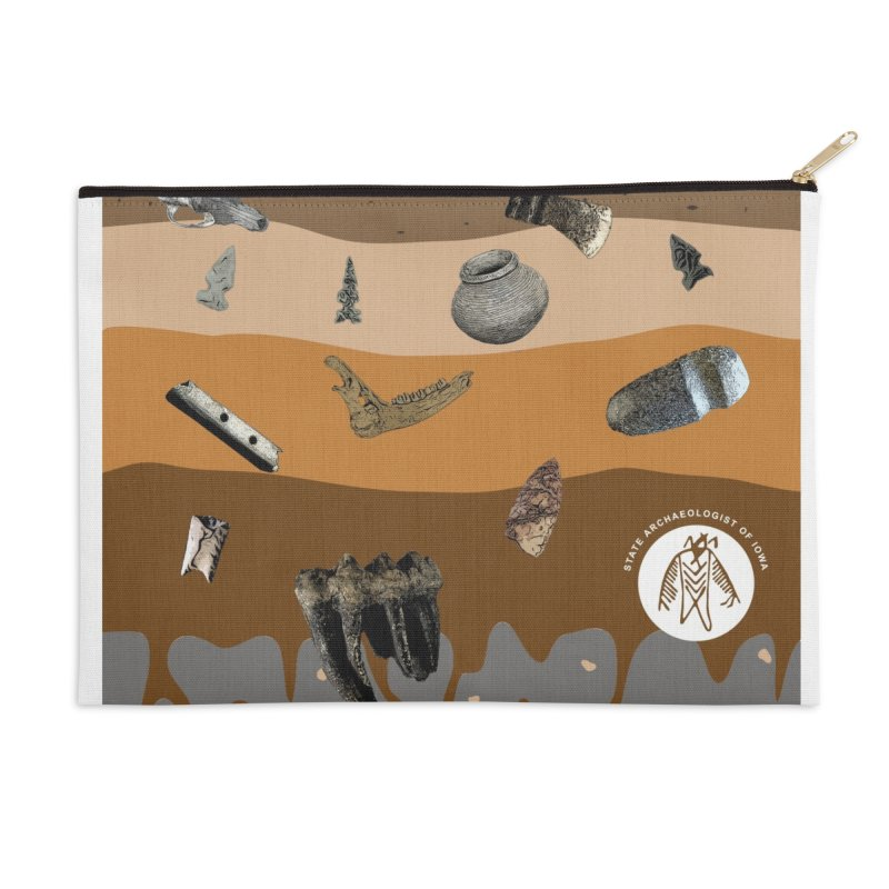 Iowa Archaeology Stratigraphy Accessories Zip Pouch by Iowa Archaeology Gifts, Prints, & Apparel