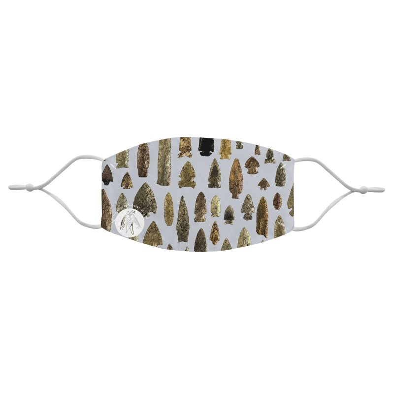 Projectile Points of Iowa Accessories Face Mask by Iowa Archaeology Gifts, Prints, & Apparel