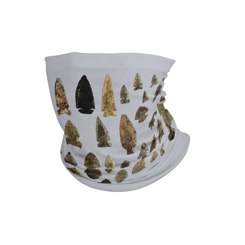 Projectile Points of Iowa Accessories Neck Gaiter by Iowa Archaeology Gifts, Prints, & Apparel