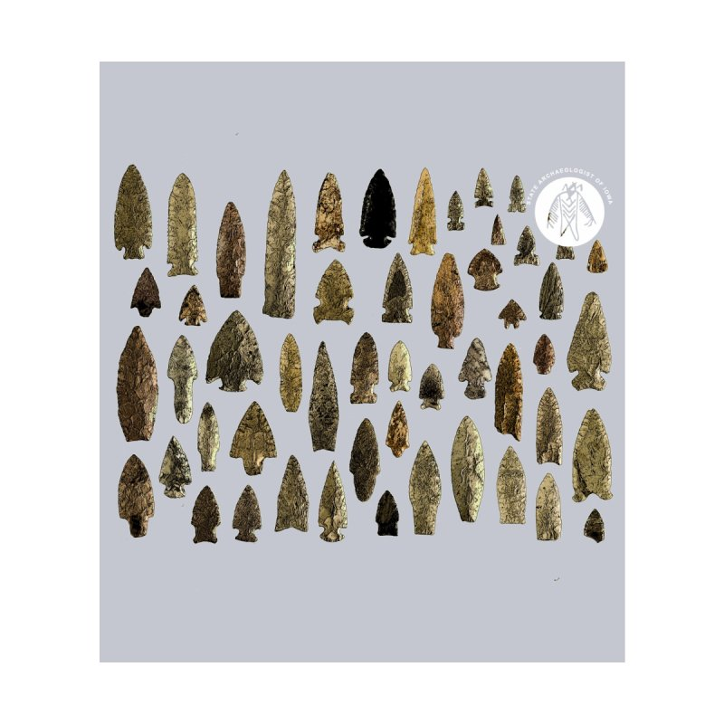 Projectile Points of Iowa Men's Socks by Iowa Archaeology Gifts, Prints, & Apparel