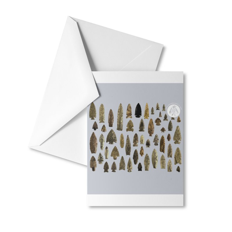 Projectile Points of Iowa Accessories Greeting Card by Iowa Archaeology Gifts, Prints, & Apparel