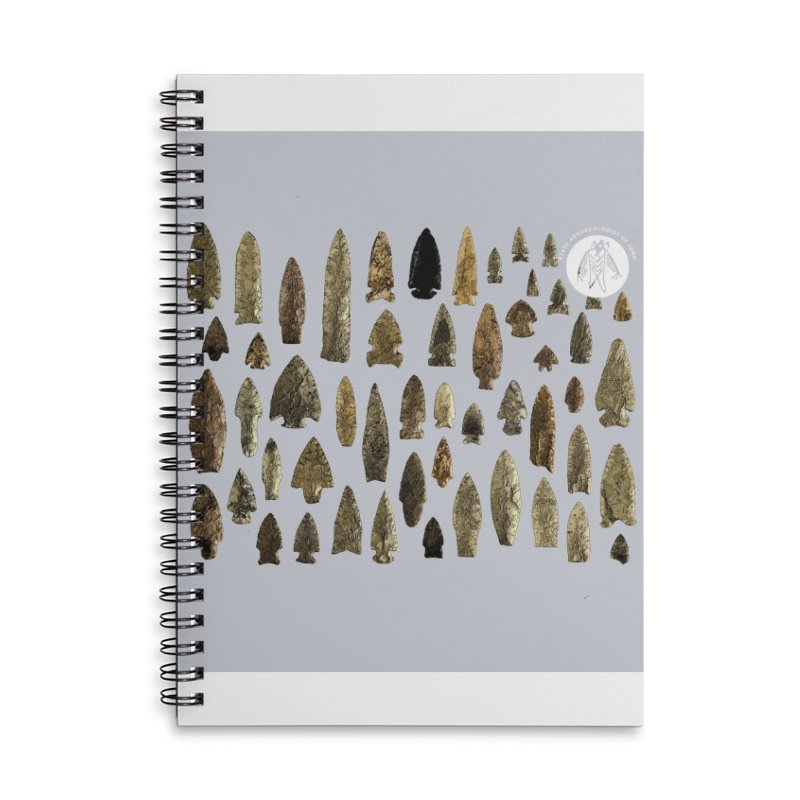 Projectile Points of Iowa Accessories Notebook by Iowa Archaeology Gifts, Prints, & Apparel