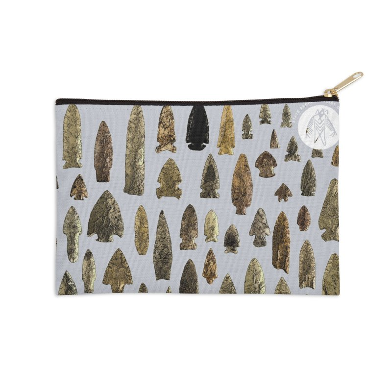 Projectile Points of Iowa Accessories Zip Pouch by Iowa Archaeology Gifts, Prints, & Apparel