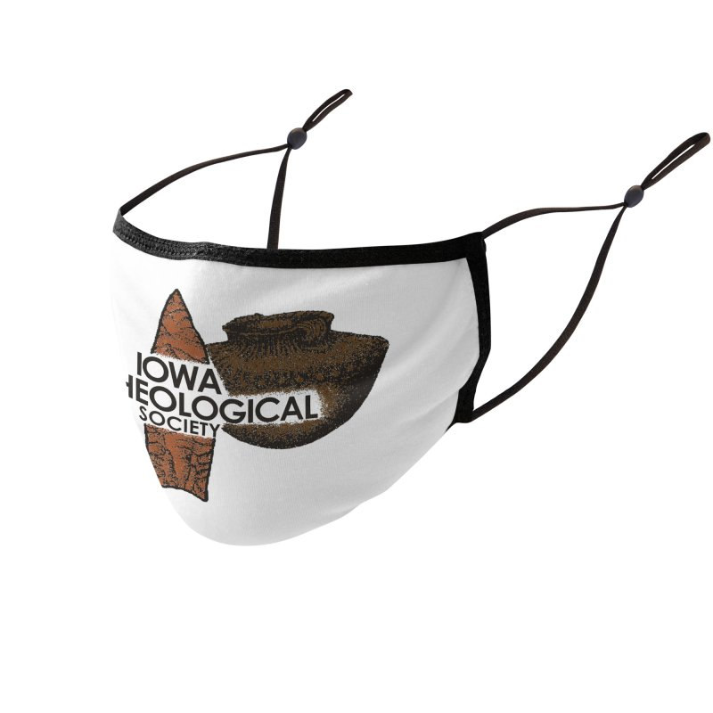 IAS Classic Logo (Color) Accessories Face Mask by Iowa Archaeology Gifts, Prints, & Apparel