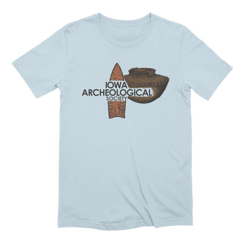 IAS Classic Logo (Color) Men's Extra Soft T-Shirt by Iowa Archaeology Gifts, Prints, & Apparel