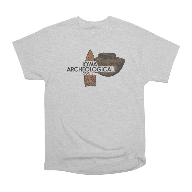 IAS Classic Logo (Color) Men's Heavyweight T-Shirt by Iowa Archaeology Gifts, Prints, & Apparel