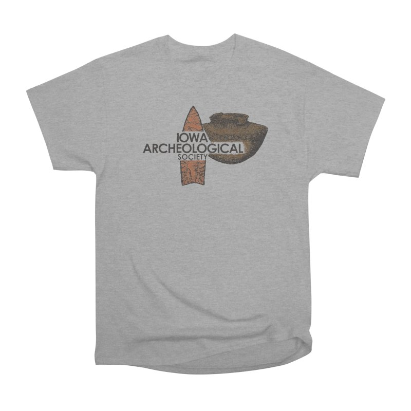 IAS Classic Logo (Color) Women's Heavyweight Unisex T-Shirt by Iowa Archaeology Gifts, Prints, & Apparel