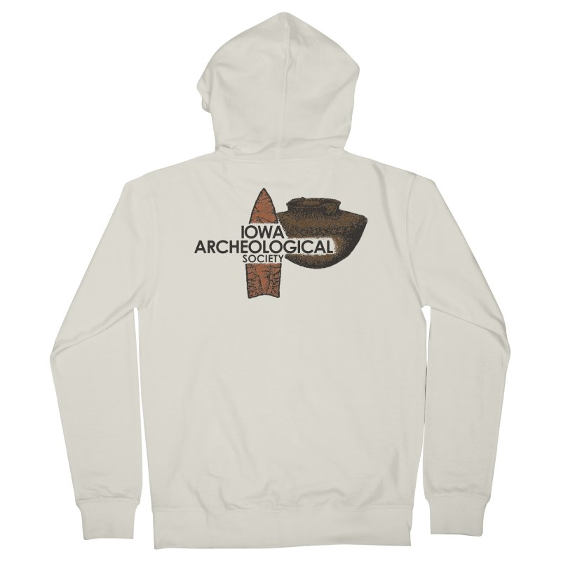IAS Classic Logo (Color) Men's Zip-Up Hoody by Iowa Archaeology Gifts, Prints, & Apparel