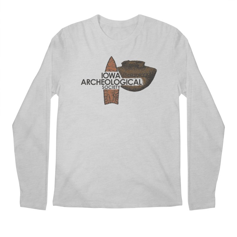 IAS Classic Logo (Color) Men's Longsleeve T-Shirt by Iowa Archaeology Gifts, Prints, & Apparel