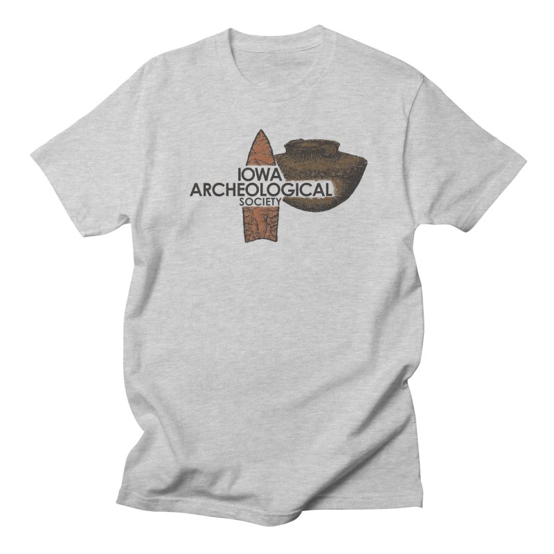 IAS Classic Logo (Color) Men's Regular T-Shirt by Iowa Archaeology Gifts, Prints, & Apparel