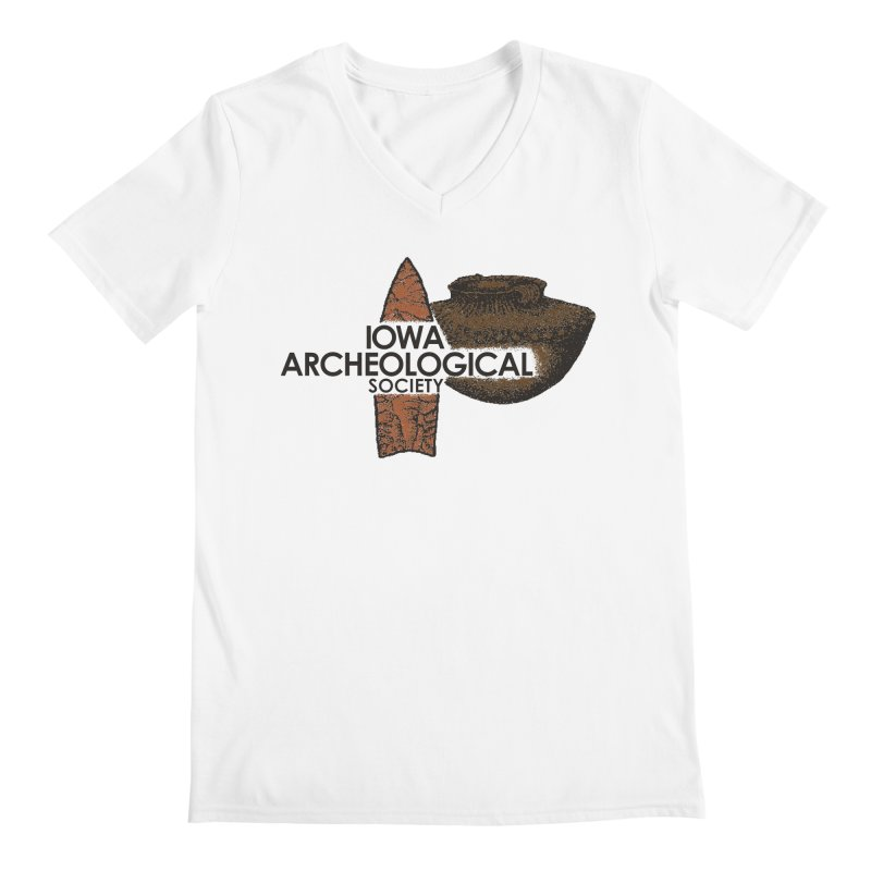 IAS Classic Logo (Color) Men's V-Neck by Iowa Archaeology Gifts, Prints, & Apparel
