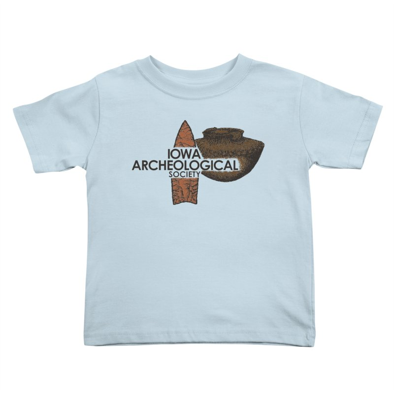 IAS Classic Logo (Color) Kids Toddler T-Shirt by Iowa Archaeology Gifts, Prints, & Apparel