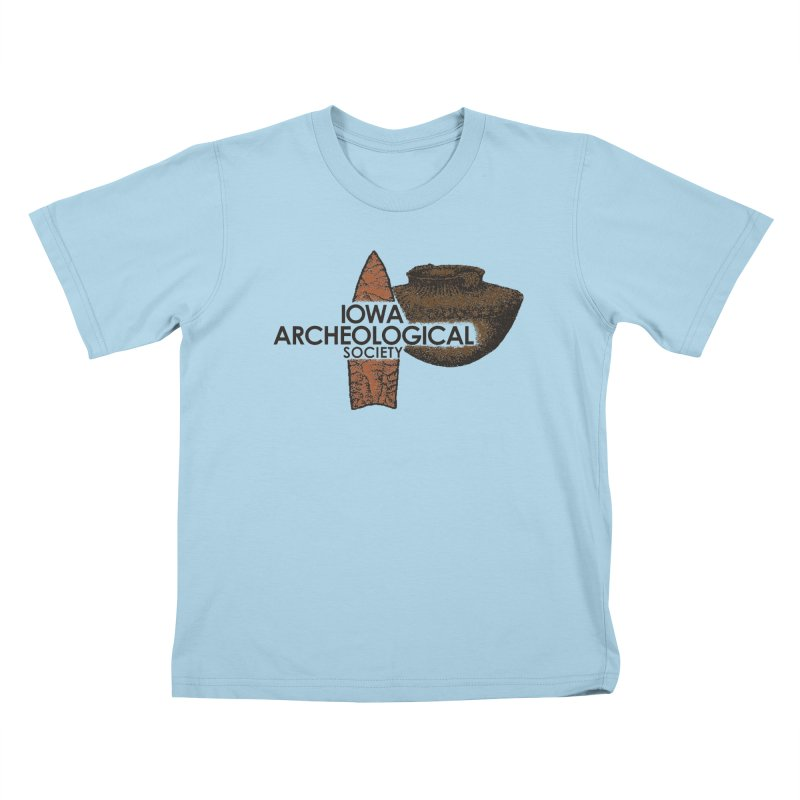 IAS Classic Logo (Color) Kids T-Shirt by Iowa Archaeology Gifts, Prints, & Apparel