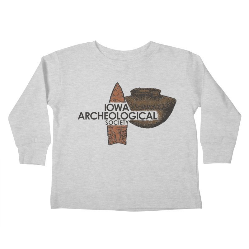 IAS Classic Logo (Color) Kids Toddler Longsleeve T-Shirt by Iowa Archaeology Gifts, Prints, & Apparel