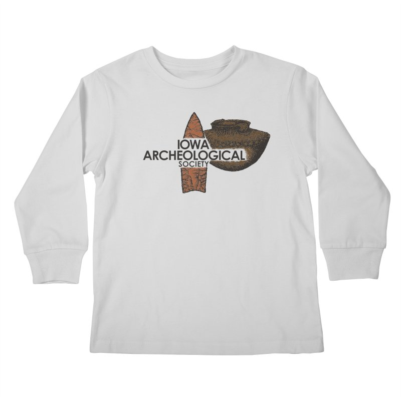 IAS Classic Logo (Color) Kids Longsleeve T-Shirt by Iowa Archaeology Gifts, Prints, & Apparel